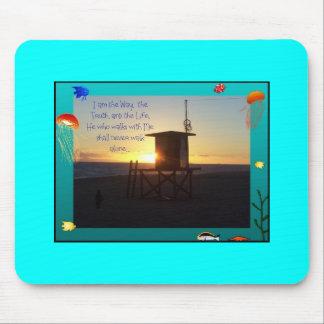 Ozean-Strand-Sonnenuntergang-Leibwächter-Station Mousepad