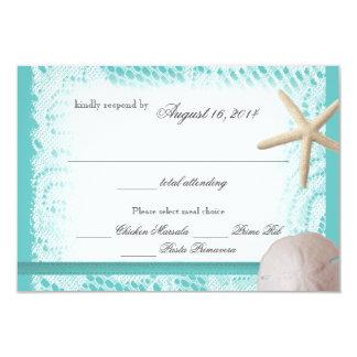 Ozean-Thema-Hochzeits-Antwort 8,9 X 12,7 Cm Einladungskarte