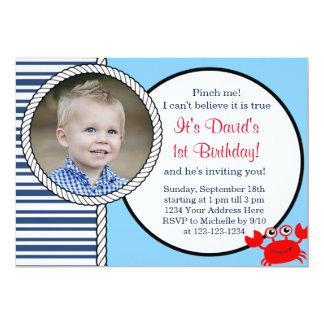 Ozean-themenorientierte Geburtstags-Einladung Karte
