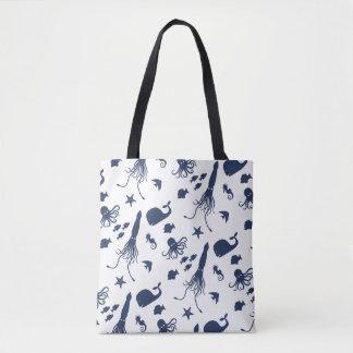 Ozean-Tierdruck-Tasche Tasche