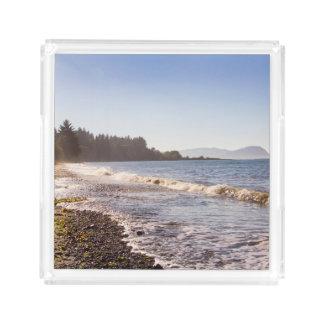 Ozean-Ufer-Linie Serviertablett Acryl Tablett