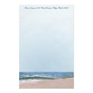 Ozean-Ufer-Strand-persönliches Briefpapier