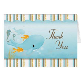 Ozean voll des Dankes Mitteilungskarte