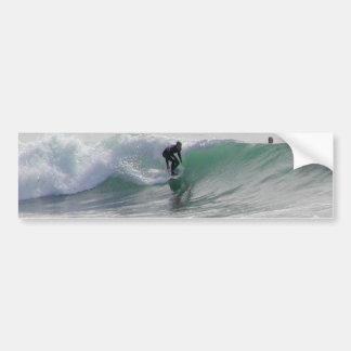 Ozean-Wellen, die Surfer surfen Autoaufkleber