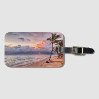 Ozean-Wellen-Sandy-Strand-Sonnenuntergang Kofferanhänger
