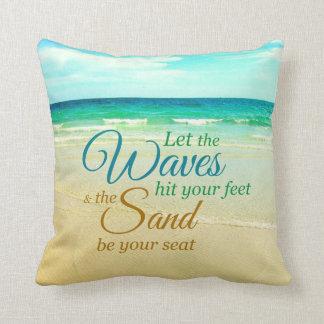 Ozean-Wellen-Zitat-Strand-Kissen Kissen