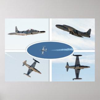P-80 ensemble d'avion de l'étoile filante 5 poster
