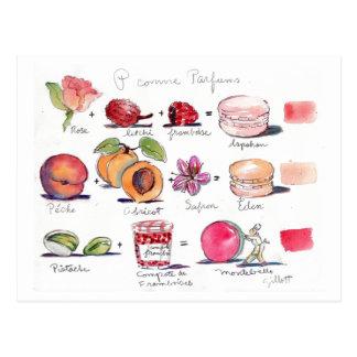 P comme Parfum Macaron Postkarte