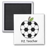 P.E. Aimant d'Apple de ballon de football de profe