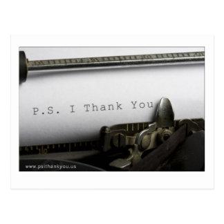 P.S. Ich danke Ihnen Postkarte