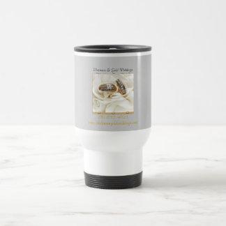 P- u. G-Hochzeits-Kaffee-Tasse (groß). Edelstahl Thermotasse