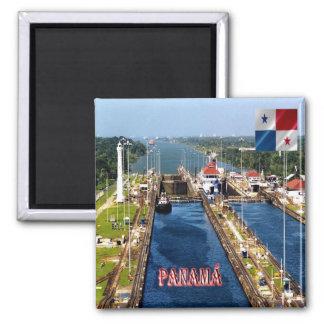 PA - Panama - Kanal-Verschlüsse Quadratischer Magnet