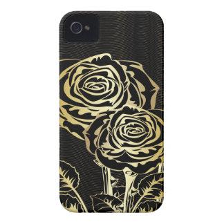 Paar-goldene Rosen-iBlackberry mutiger Fall iPhone 4 Case-Mate Hülle