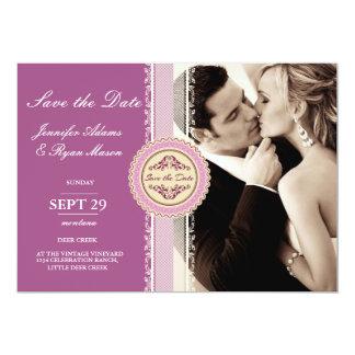 Paar-Kuss-HochzeitSepia 12,7 X 17,8 Cm Einladungskarte
