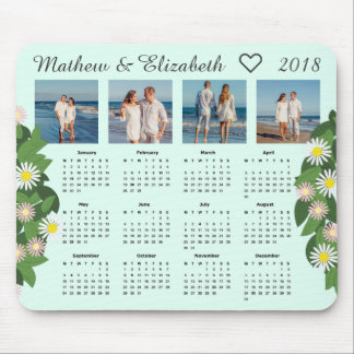 Paar-Namen und Fotos | 2018 Foto-Kalender Mauspad