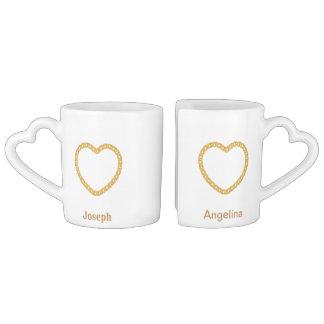 Paar-personalisierte Kaffee-Tasse Partnertasse