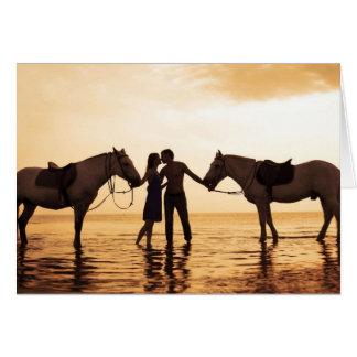 Paar-Pferde Karte