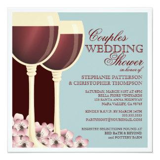 Paar-Polterabend-Wein-Themed Einladung