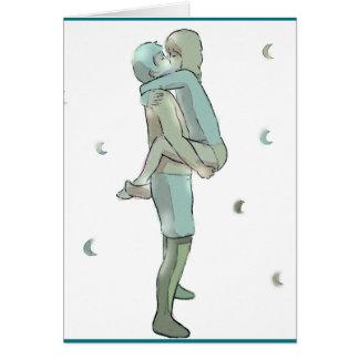 Paar-Umarmung Grußkarte