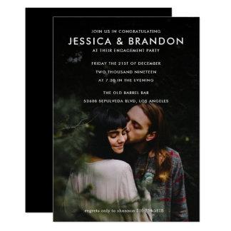 Paar-Verlobungs-Foto des Polterabend-  12,7 X 17,8 Cm Einladungskarte