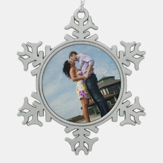Paare der Verzierungs-  der Schneeflocke in der Schneeflocken Zinn-Ornament