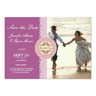 Paare, die auf den Strand laufen 12,7 X 17,8 Cm Einladungskarte