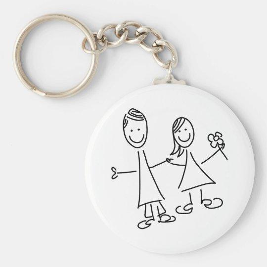 Paare Hand in Hand der Liebhaber, die Keychain Standard Runder Schlüsselanhänger