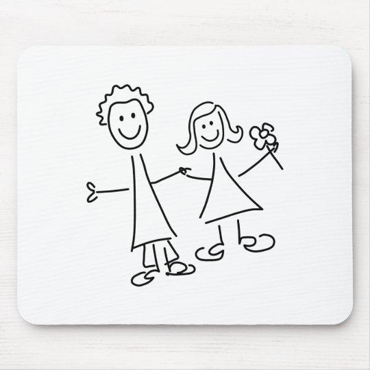Paare Hand in Hand der Liebhaber, die Mauspad
