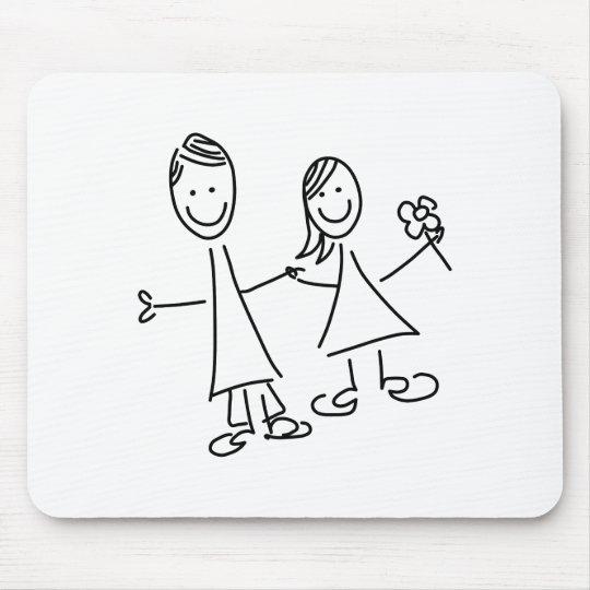 Paare Hand in Hand der Liebhaber, die Mauspads