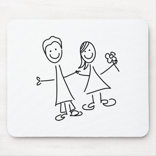 Paare Hand in Hand der Liebhaber, die Mousepad
