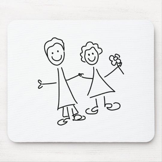 Paare Hand in Hand der Liebhaber, die Mousepads