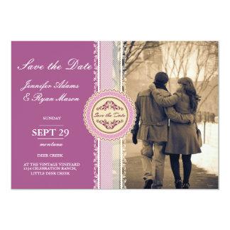 Paare in der Liebe am Parkwinter/am rosa Thema 12,7 X 17,8 Cm Einladungskarte