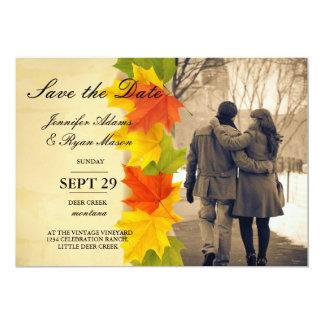 Paare in der Liebe am Parkwinter-/-fallthema 12,7 X 17,8 Cm Einladungskarte