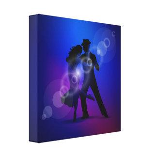 Paare von Tanzen Tango. Gespannter Galerie Druck