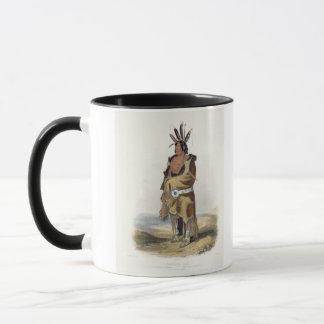 Pachtuwa-Chta, ein Arrikkara Krieger, überziehen Tasse