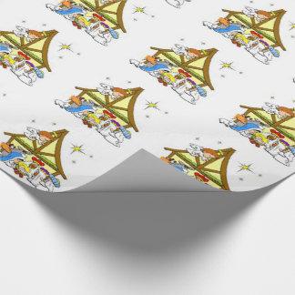 Packpapier/Geburt Christi Geschenkpapier