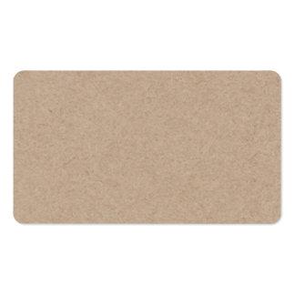 Packpapier-Hintergrund Browns Gedruckt Visitenkarten