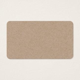 Packpapier-Hintergrund Browns Gedruckt Visitenkarte