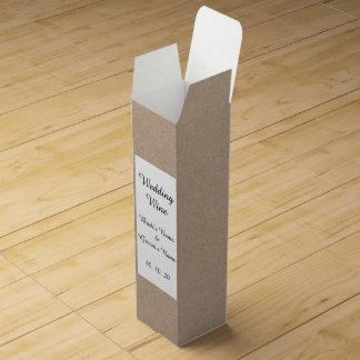 Packpapier-Hintergrund Browns Gedruckt Wein-Geschenkverpackung
