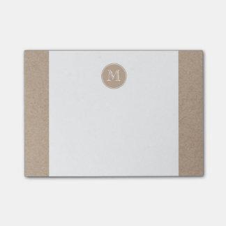 Packpapier-Hintergrund-Monogramm Post-it Klebezettel