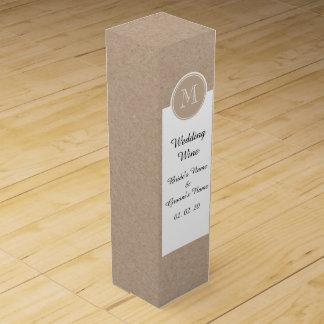 Packpapier-Hintergrund-Monogramm Wein-Geschenkverpackung