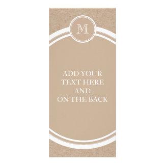 Packpapier-Hintergrund-Monogramm Werbekarte