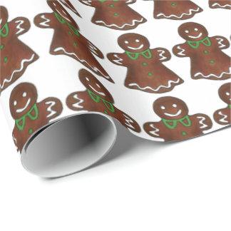 Packpapier Lebkuchen-Damen-Cookie Christmas