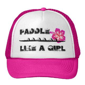 Paddel mögen ein Mädchen Retrocap