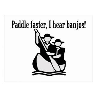 Paddel schneller höre ich Banjos Postkarte
