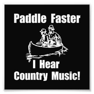 Paddel-schnellere Countrymusik Photographie