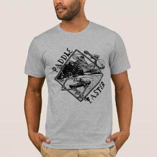 Paddel-schnelleres Skeleton Kanu T-Shirt