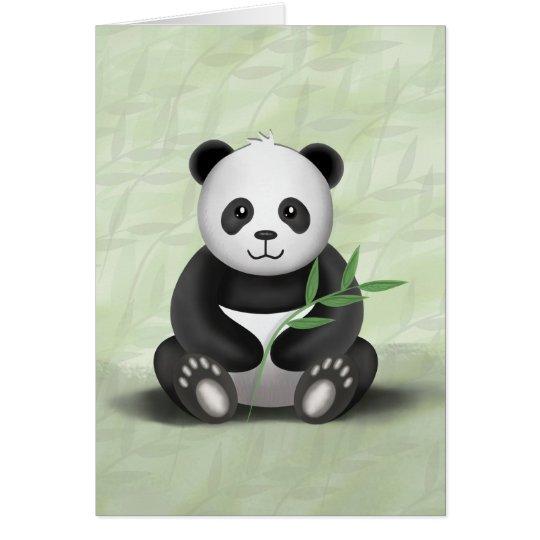 Paddy der Panda - Gruß-Karte Grußkarte