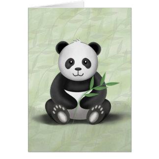 Paddy der Panda - Gruß-Karte Karte