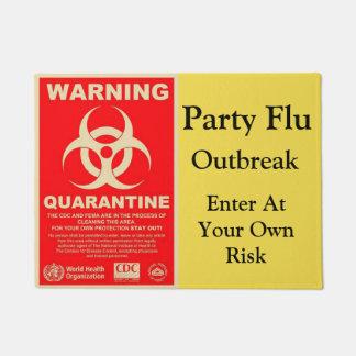 Paillasson Avertissement de grippe de partie